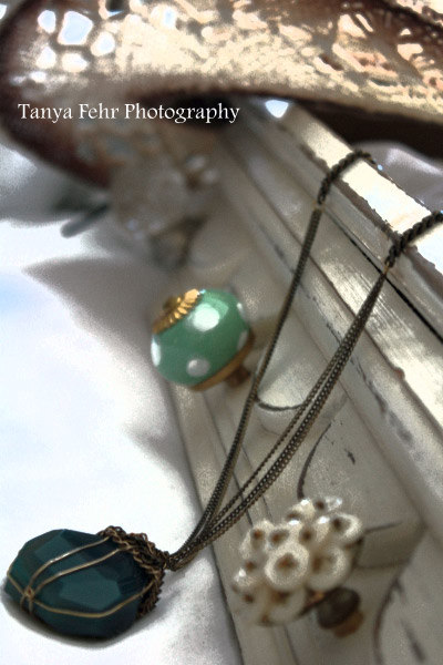 Tanya already had the shelf, so she added some beautiful knobs and created storage for her jewelry!! Fabulous ideas!!
